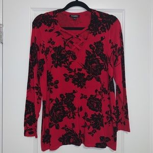 Roz & Ali red top